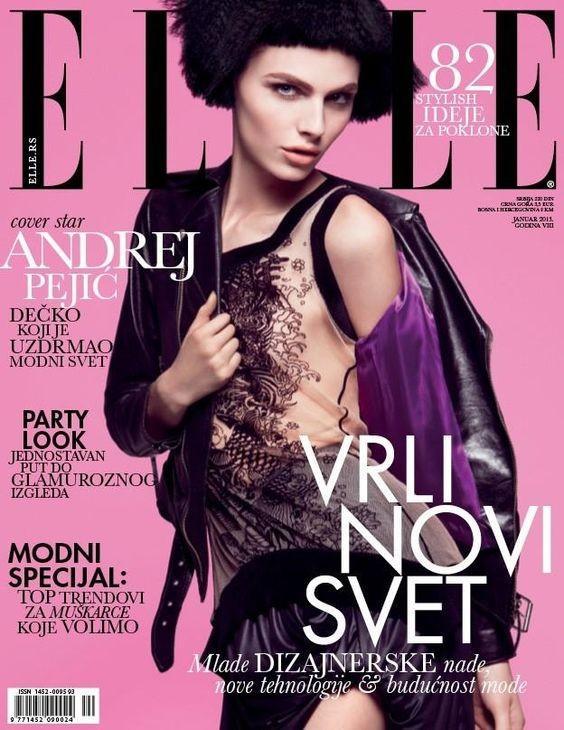 2013年1月Elle塞尔维亚封面